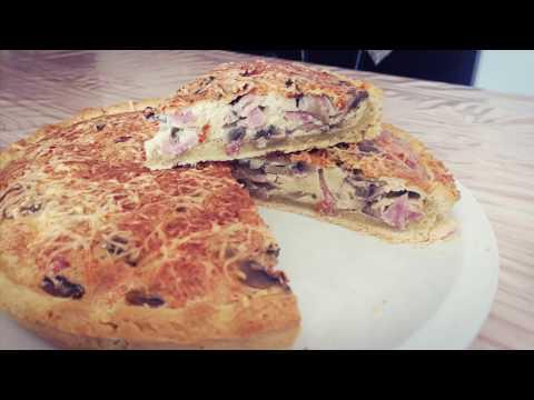 recette-de-la-tarte-jambon-et-champignons---simple-et-rapide!