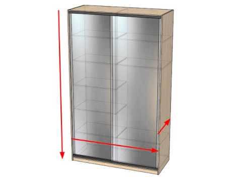 Габаритные размеры шкафов