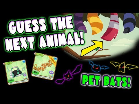 Guess The Next Animal! Where To Get Pet Bats & Secret Items | Animal Jam
