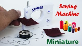 How to Make Realistic Miniature Sewing Machine   See & Do  Dollhouse