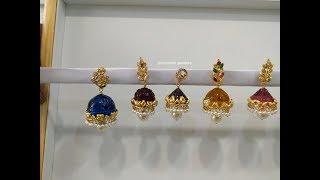 Latest Gold Emerald buttalu Earrings Designs