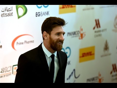 Raw: Football superstar Messi visits Egypt to promote Hepatitis C treatment