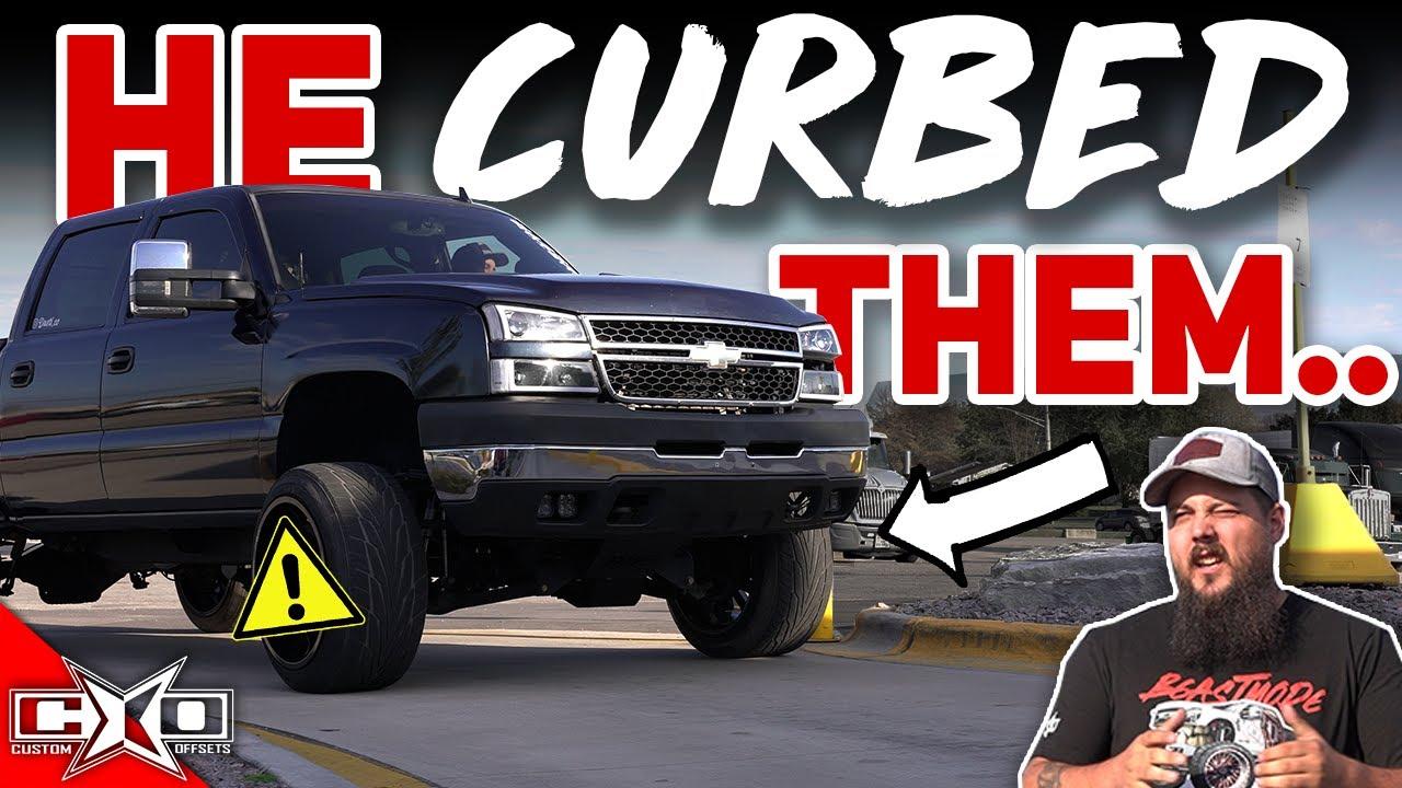 Lifted Truck VS. Fast Food Drive Thru!! (Curbed Wheel Alert)