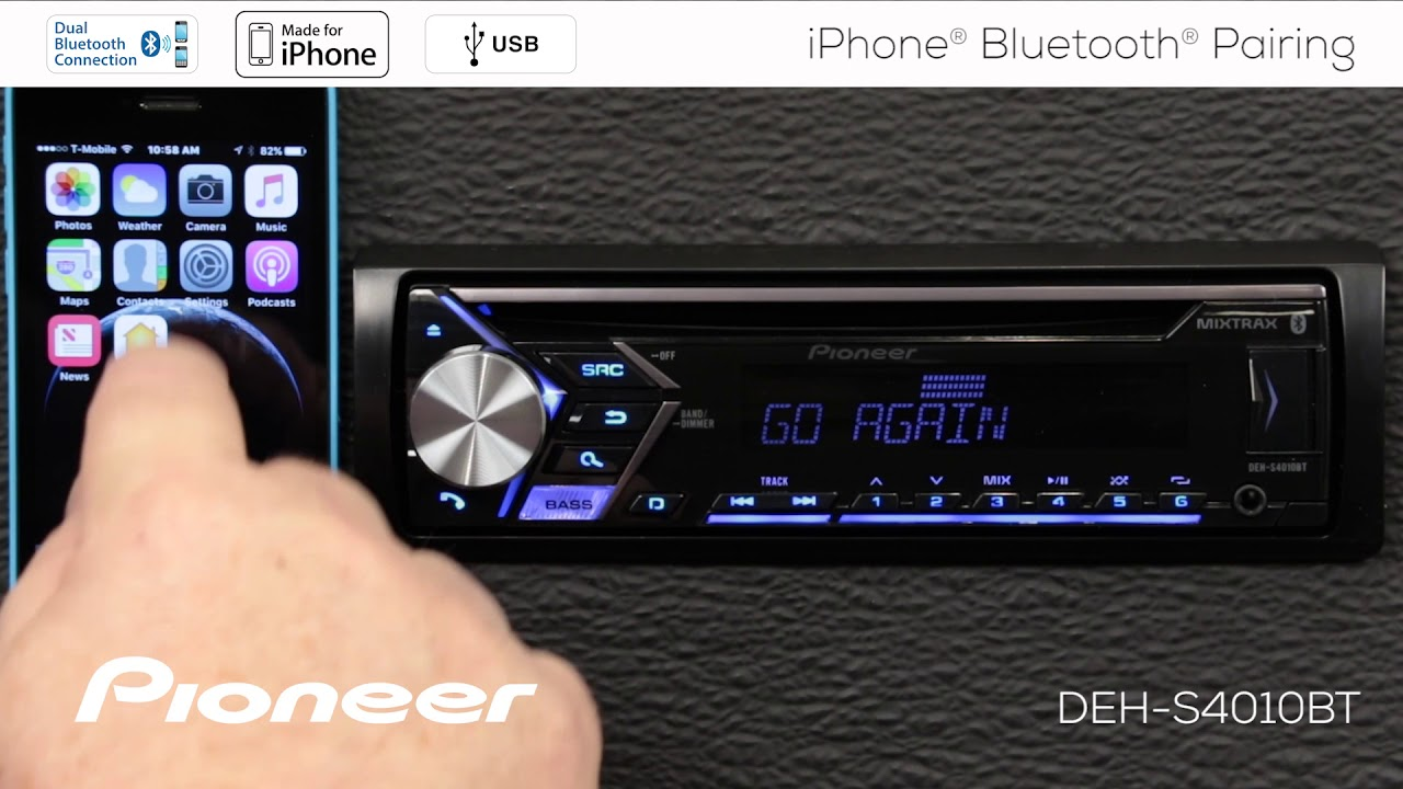 Pioneer Deh Car Stereo Wiring Model 6350 Data Schema Diagram On P6400 Group How To Iphone Bluetooth Pairing In Dash Receivers 2018 Rh Youtube Com