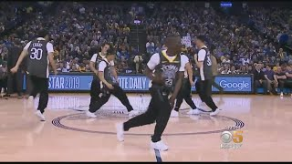 Warriors Break Dancers Show Off Olympic-Class Moves at Oracle Arena