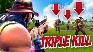 INTENSE TRIPLE KILL! (Fortnite Battle Royale)