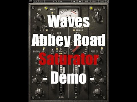 Waves Abbey Road Saturator Demo