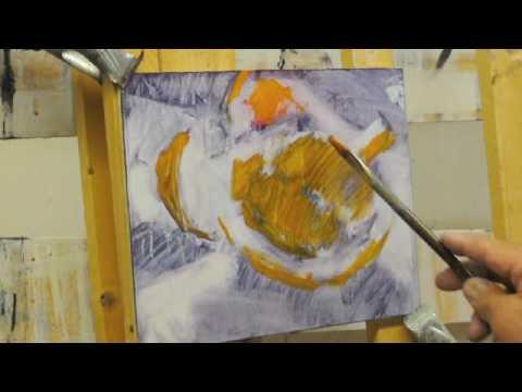 painting demo - grapefruit