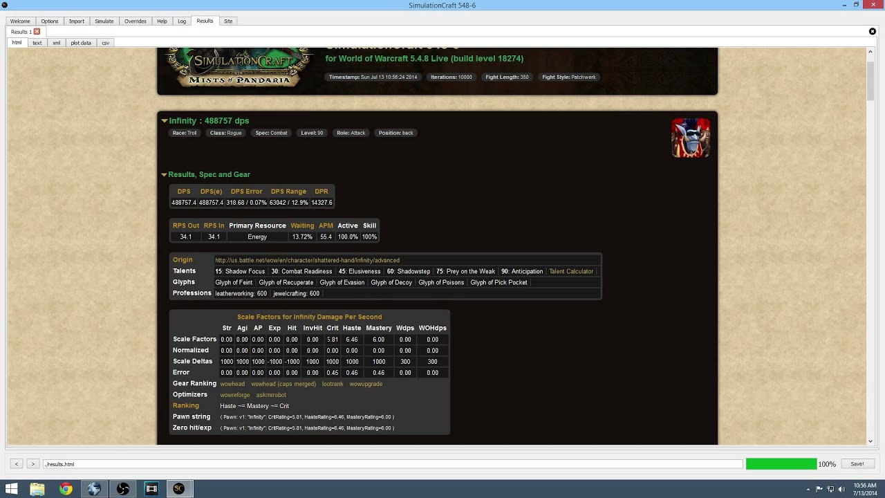 wow simcraft 5.4