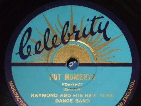 "rare 78rpm record labels no 63 ""hot moments"" raymond & new york"