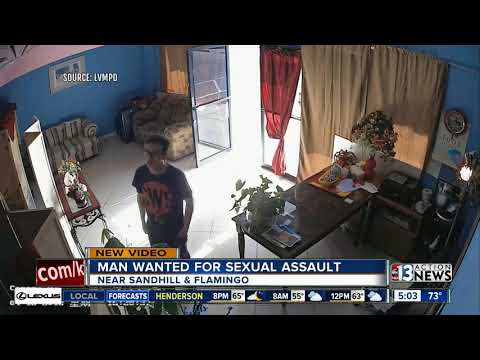 Las Vegas police searching for man who allegedly sexually assaulted woman