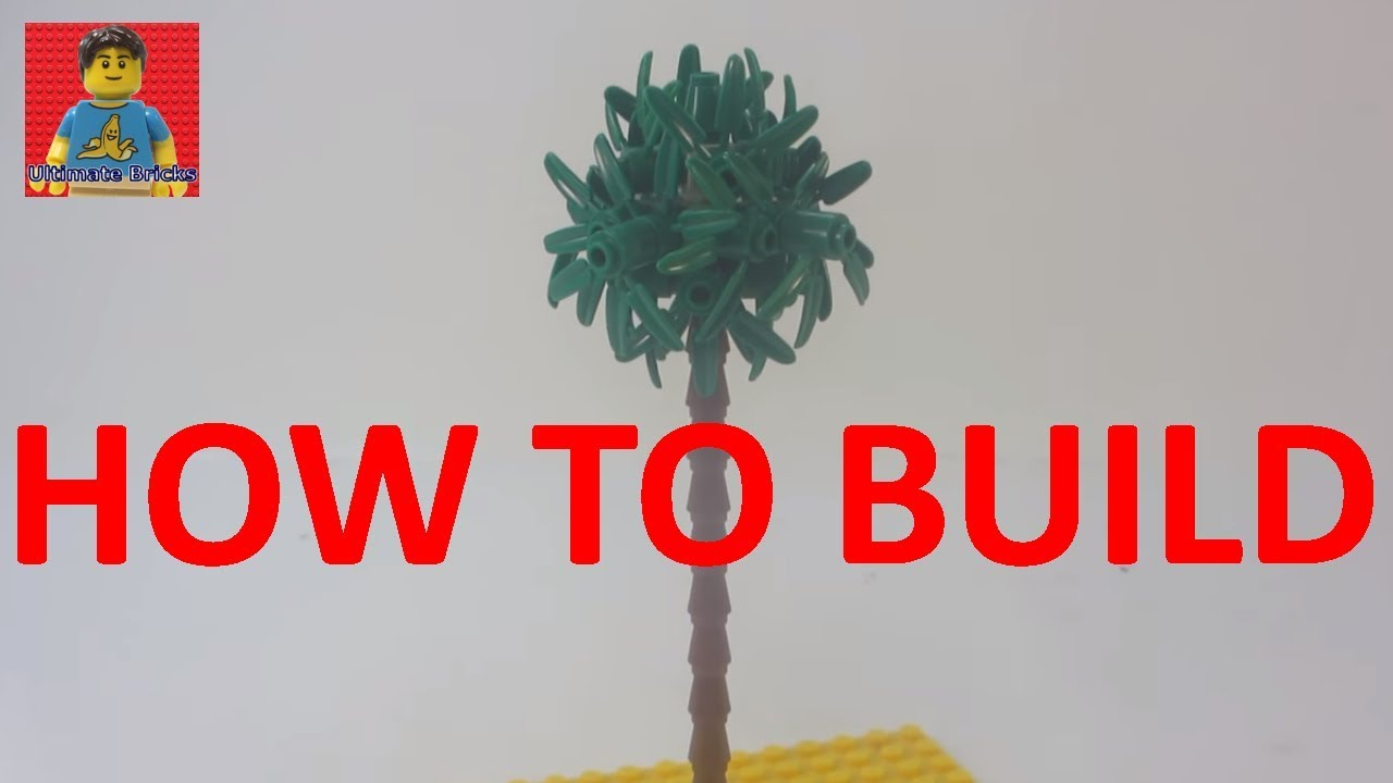 How To Build A Lego Palm Tree Tutorial Youtube