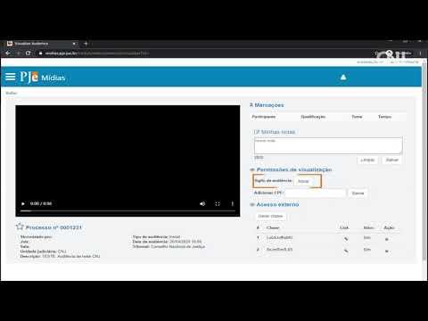 Vídeo 07 - Chaves de acesso de audiências e sessões