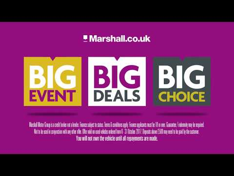 Marshall Motor Group BIG EVENT - 6 to 31 October 2017