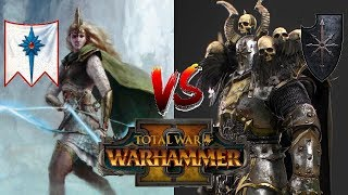 High Elves vs Chaos | TECLIS AND THE SISTERS - Total War Warhammer 2
