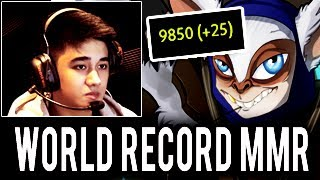 WORLD RECORD! 9875 MMR Abed Meepo & QoP Epic Game Coming 10k MMR Dota 2