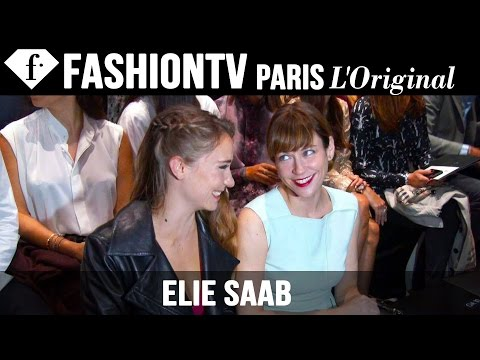 Elie Saab Front Row Spring 2015 ft Marie Josee Croze  Paris Fashion Week  FashionTV