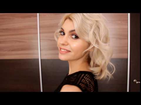 Макияж и прическа для блондинки с карими глазами