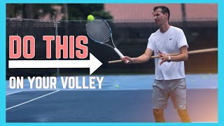 Two Common Mistakes On The Volley | Tennis Volley Technique