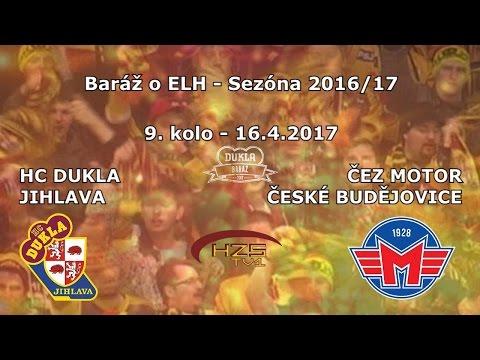 9. baráž (16.4.2017) HC Dukla Jihlava - ČEZ Motor České Budějovice