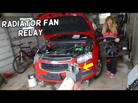 CHEVROLET CRUZE RADIATOR FAN RELAY LOCATION REPLACEMENT. CRUZE OVERHEATING FAN NOT WORKING