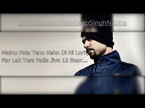 "BOHEMIA - HD Lyrics of Only Rap in 'Munda Manaka Da' By ""Bohemia"" ft. ""Jass Manak"""