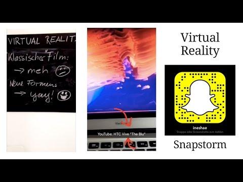 Virtual Reality - nur etwas für Gamer? #snapstorm