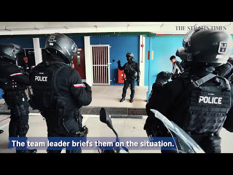 singapore police special operation force. training to fight terror with speed & skill