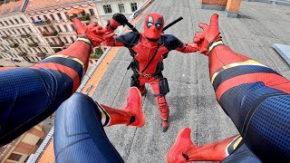 SPIDERMAN vs DEADPOOL - Real Life Parkour POV