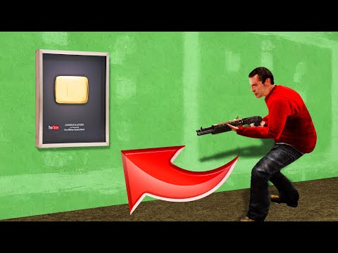 Hiding as a GOLDEN PLAY BUTTON in GMOD Prop Hunt!