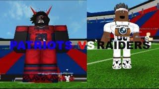 NFL ROBLOX Patriots VS Raiders Highlights