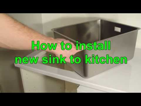 How to install new sink to kitchen