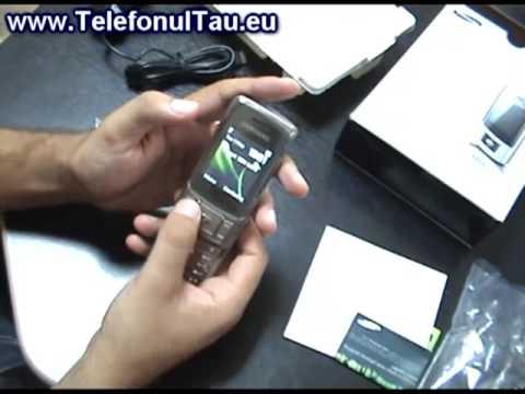 Samsung M620 Review in Romana  - www.TelefonulTau.eu -