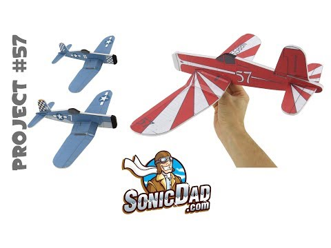 how to make a glider airplane from foam picnic plates