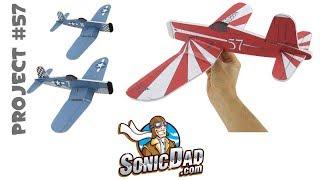 make a foam airplane that is better than balsa wood sonicdad project 57 the f4u corsair