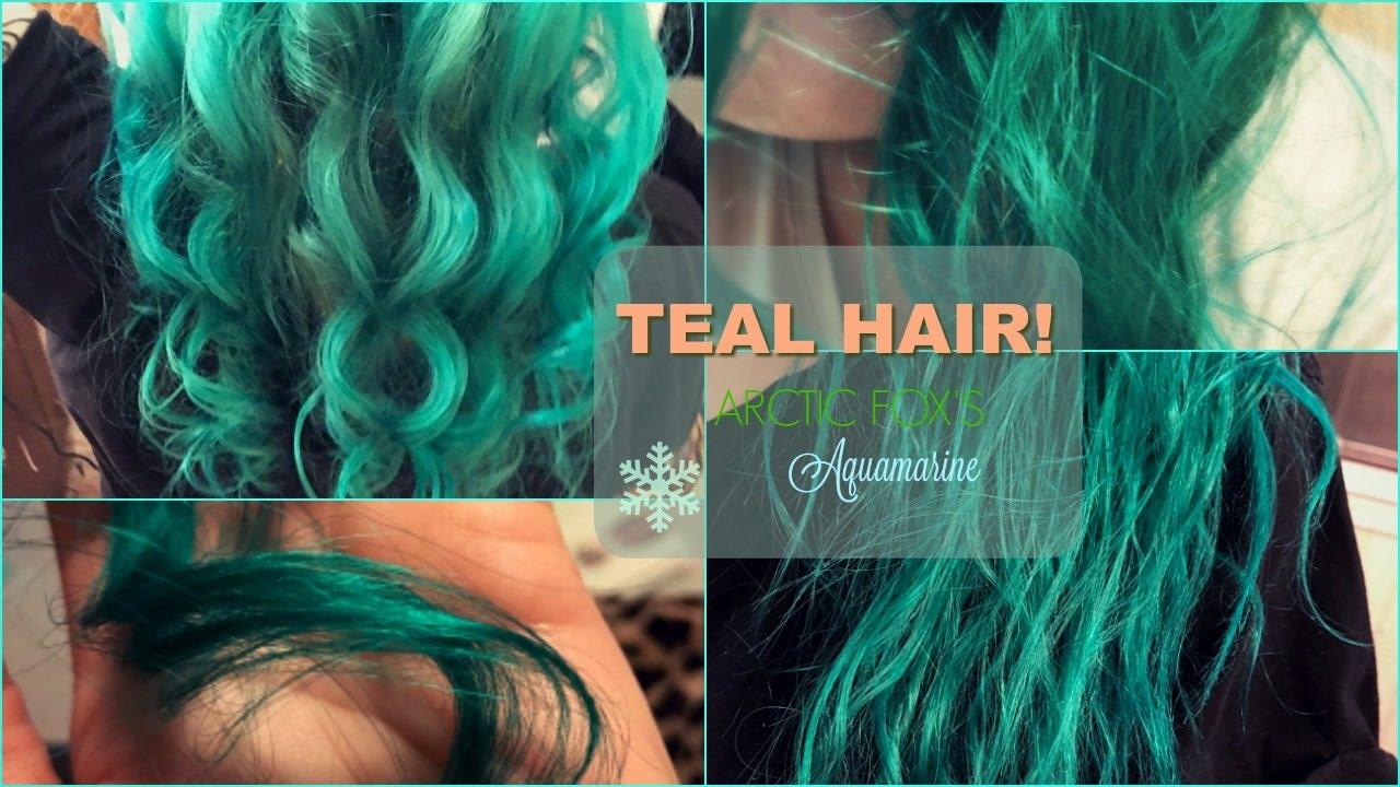Dying My Hair Teal Arctic Fox Aquamarine Mermaid Hair
