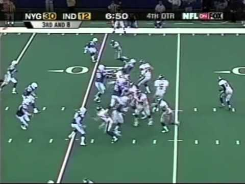 Amani Toomer's 204 Receiving Yards vs Colts - YouTube