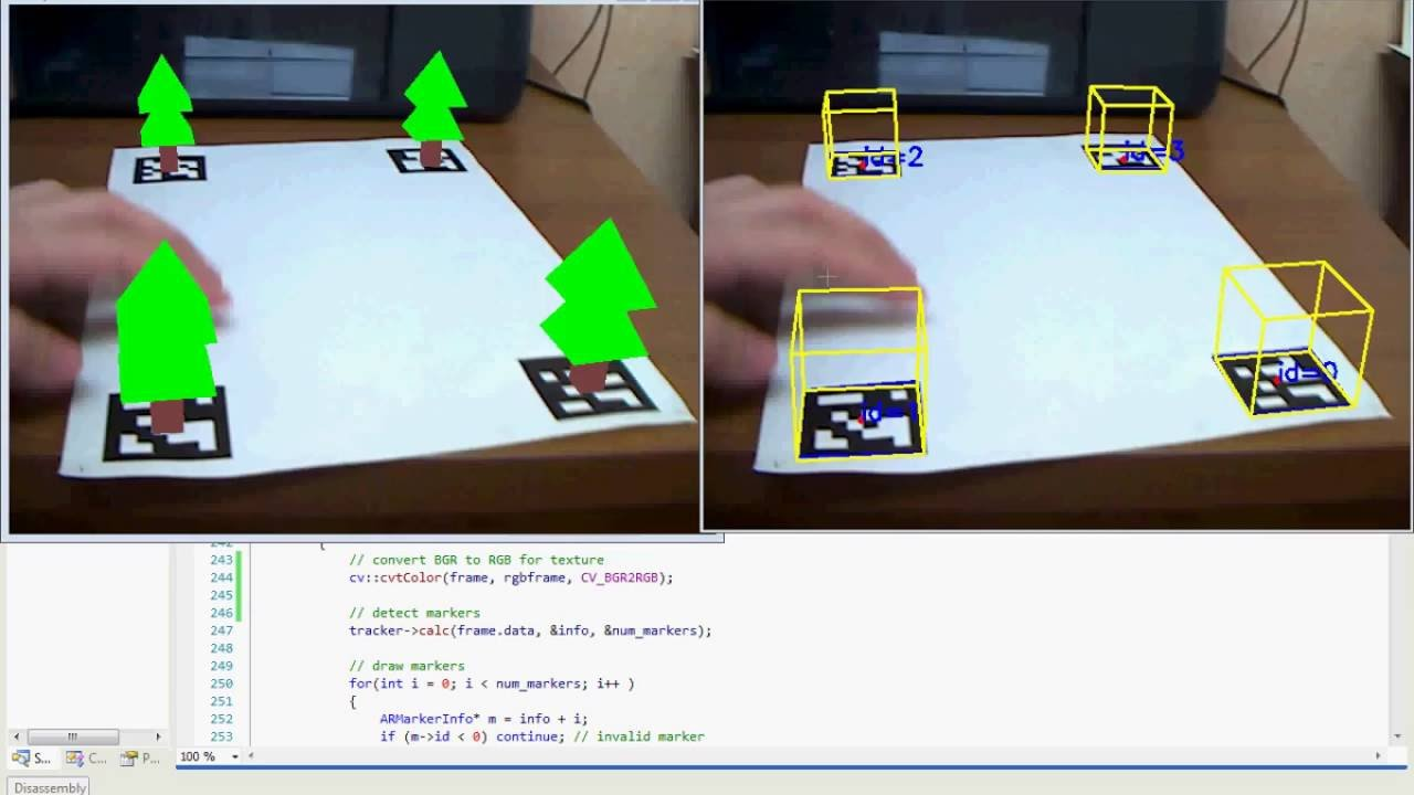 Augmented reality using ARToolkit+ with OpenCV & OpenGL