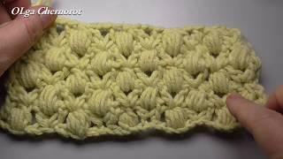 Простой узор крючком для шарфа,снуда, пальто