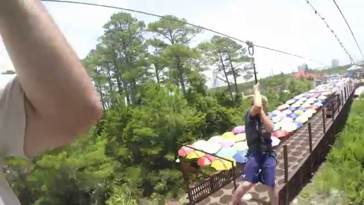 Ethan Zahnd On The Zipline At Miracle Strip In Panama City Beach Fl You