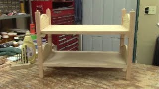 American Girl Doll bunk bed build, part 2