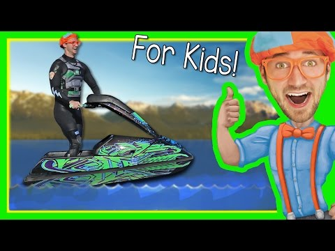 Thumbnail: Boats for Kids with Blippi | Explore a Jet Ski
