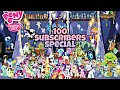 My little pony 100 subscribers special viewing all my  ponies(catch the play).
