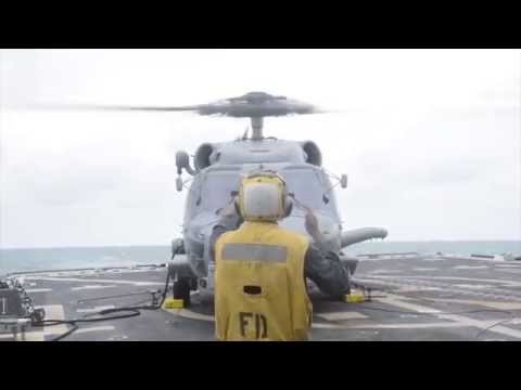 MH-60R Seahawk Helicopter Search Operations of AirAsia Flight QZ8501