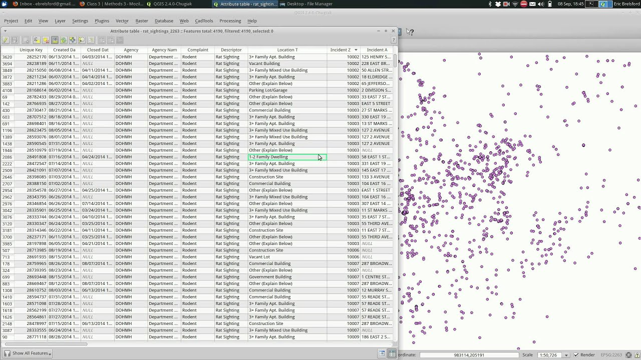 QGIS: Attribute Tables and Selecting Features