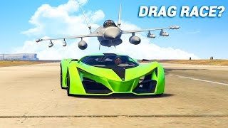 CAN YOU DRIVE FASTER THAN THE JET IN GTA 5?
