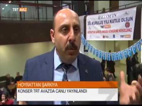 İLESAM Hoyrattan Şarkıya Ankara Konseri TRT Avaz Haberi