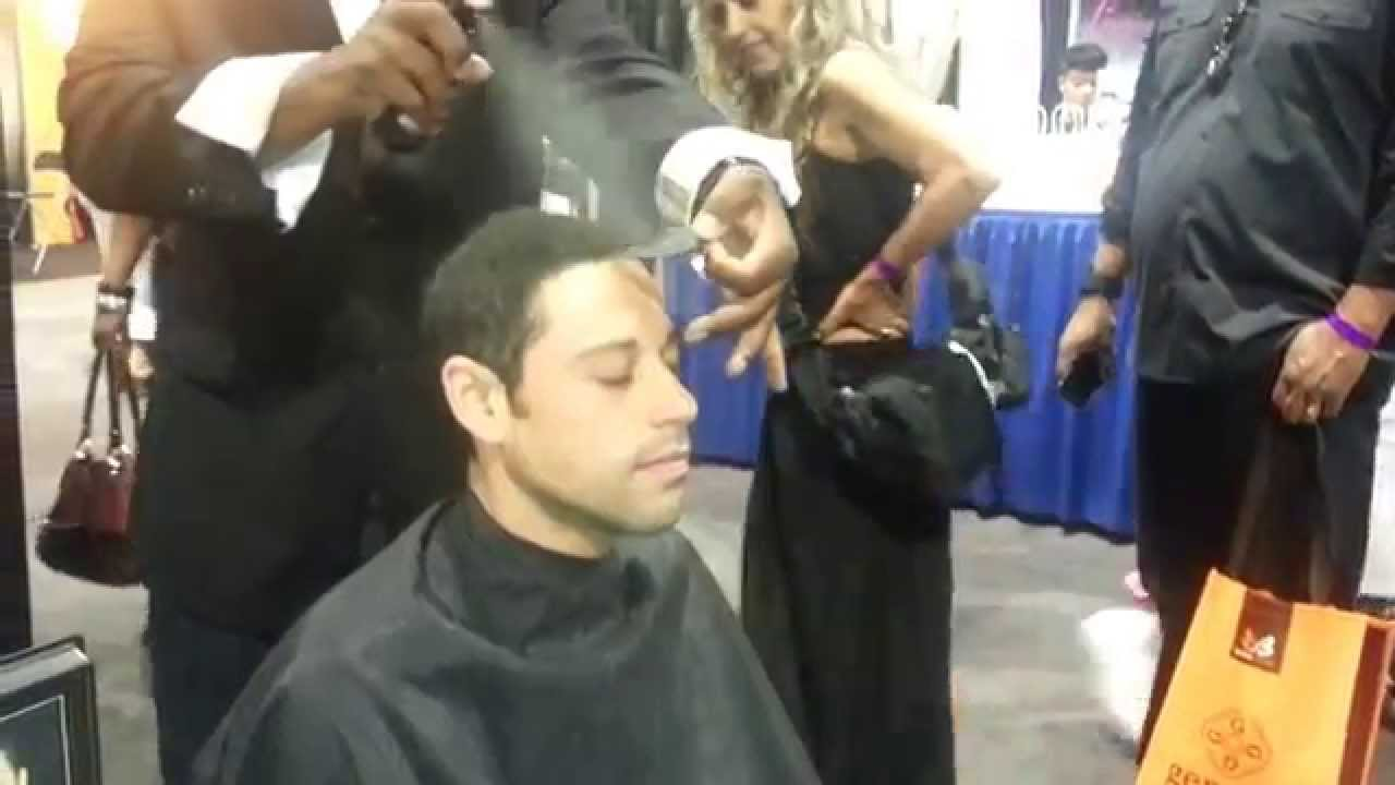 Watch As Master Barber Makes Hair Look Thicker Using Toppik Hair