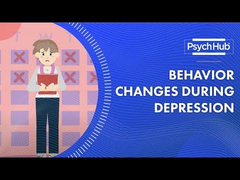 Behavior Changes During Depression