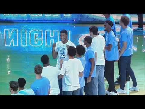 UNC Men's Basketball: Players & Coaches Introduced at 2016 Late Night With Roy